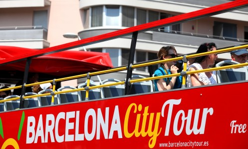 a Barcelona city tour bus, Barcelona, Spain, Europe, August 2013, picture 59