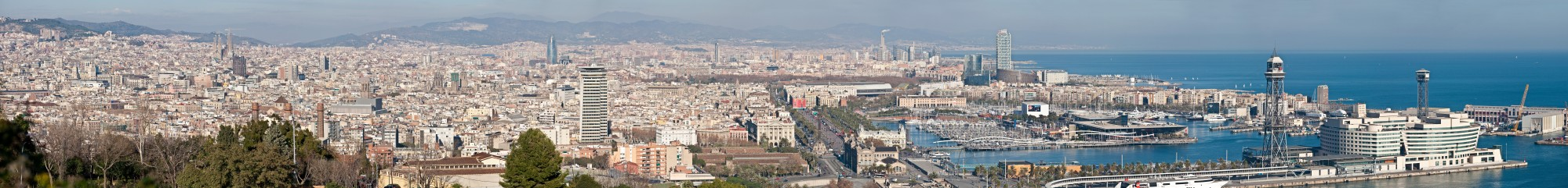 Barcelona Cityscape Panorama - Jan 2007 edit