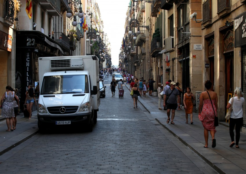 a street in Barcelona, Spain, Europe, August 2013, picture 29