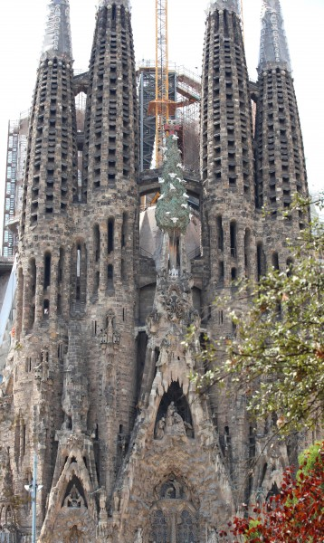 Sagrada Familia church in Barcelona, Spain, Europe, August 2013, picture 54