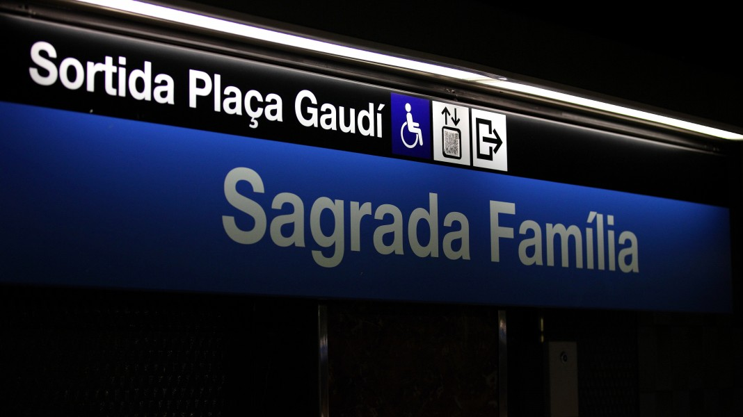 Sagrada Familia metro station in Barcelona, Spain, Europe, August 2013, picture 61