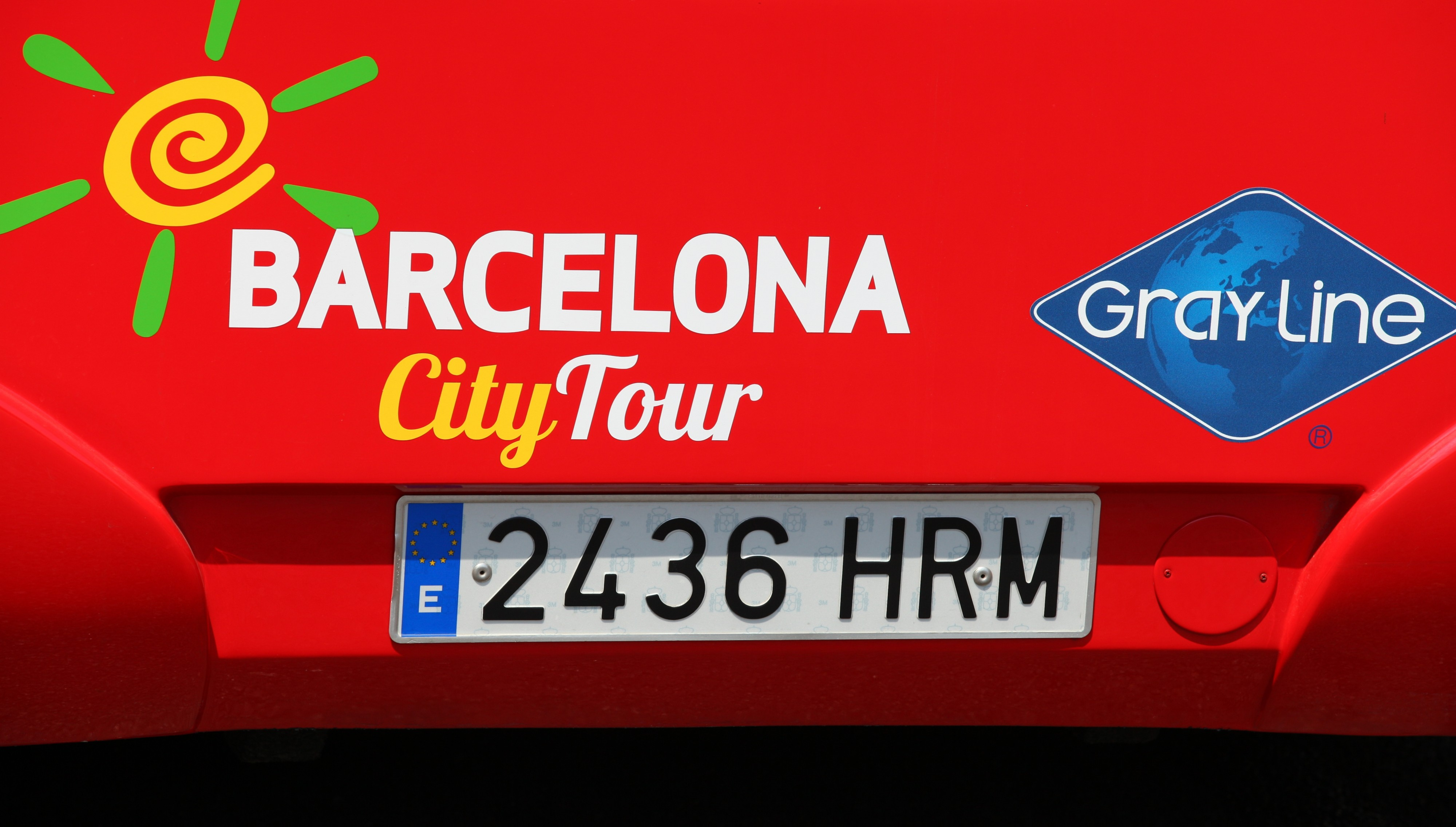 a Barcelona city tour bus in Barcelona, Spain, Europe, August 2013, picture 60