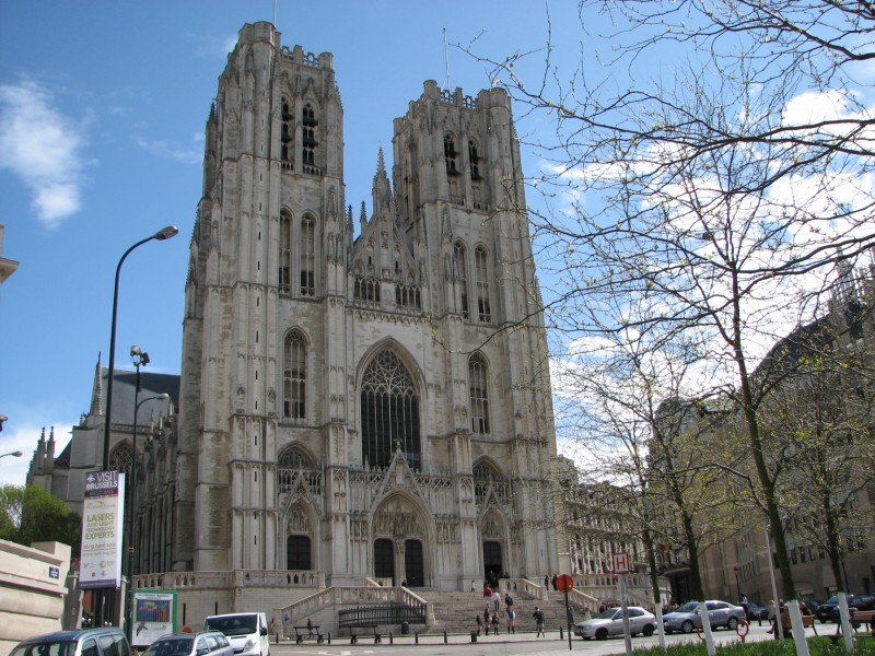 a beautiful church in Brussels (Bruxelles), Belgium, 2012