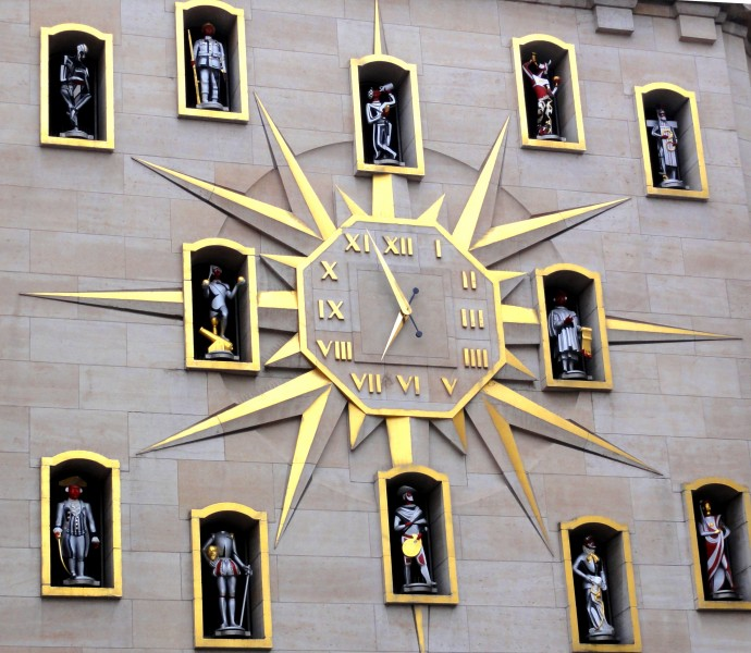 a clock in Brussels - the capital of Belgium and the de facto capital of the European Union (EU), picture 13