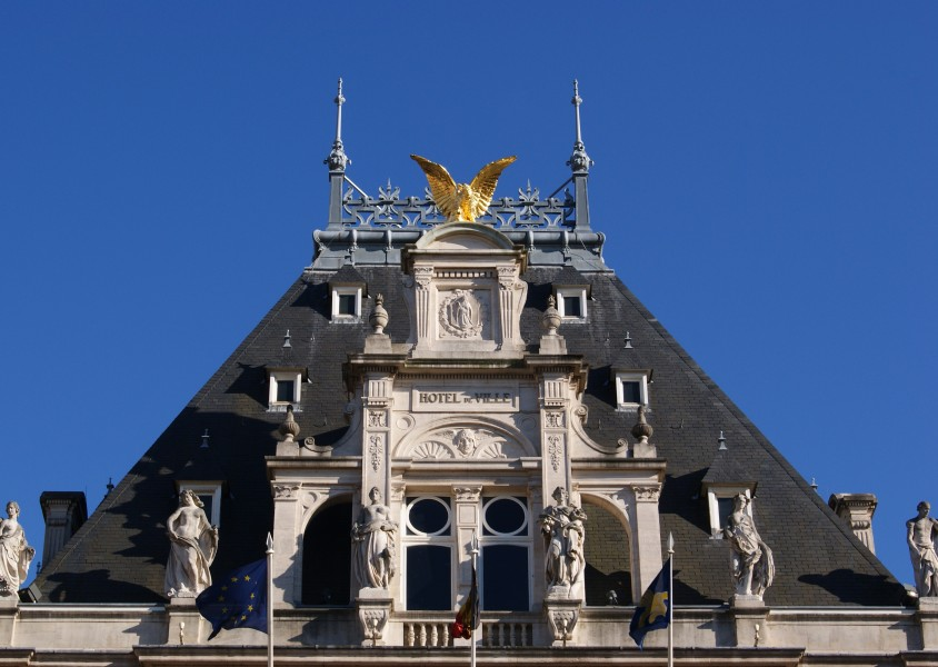 Townhall of Saint-Gilles roof