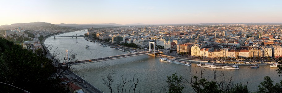 Budapest Evening Panorama from Gellert Hill