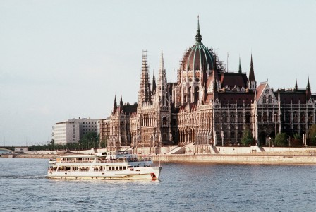 Hungary's Parliament building in 1991