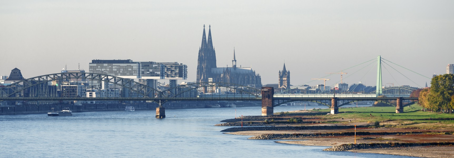 Cologne Germany Cityscape-from-Rodenkirchener-Brücke-01