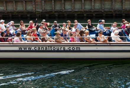 people on a canal tour in Copenhagen, Denmark, June 2014, picture 29