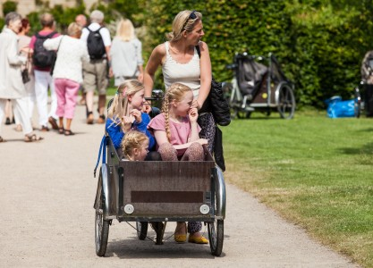 three kids and a woman, Copenhagen, Denmark, June 2014, picture 36