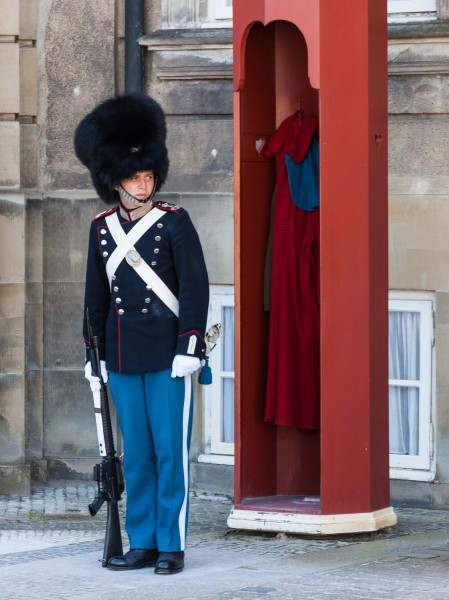 a guard in Copenhagen, Denmark, June 2014, picture 11