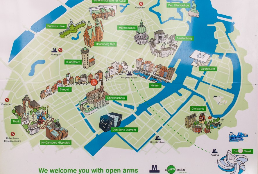a map of places of interest in Copenhagen, Denmark, June 2014, picture 22