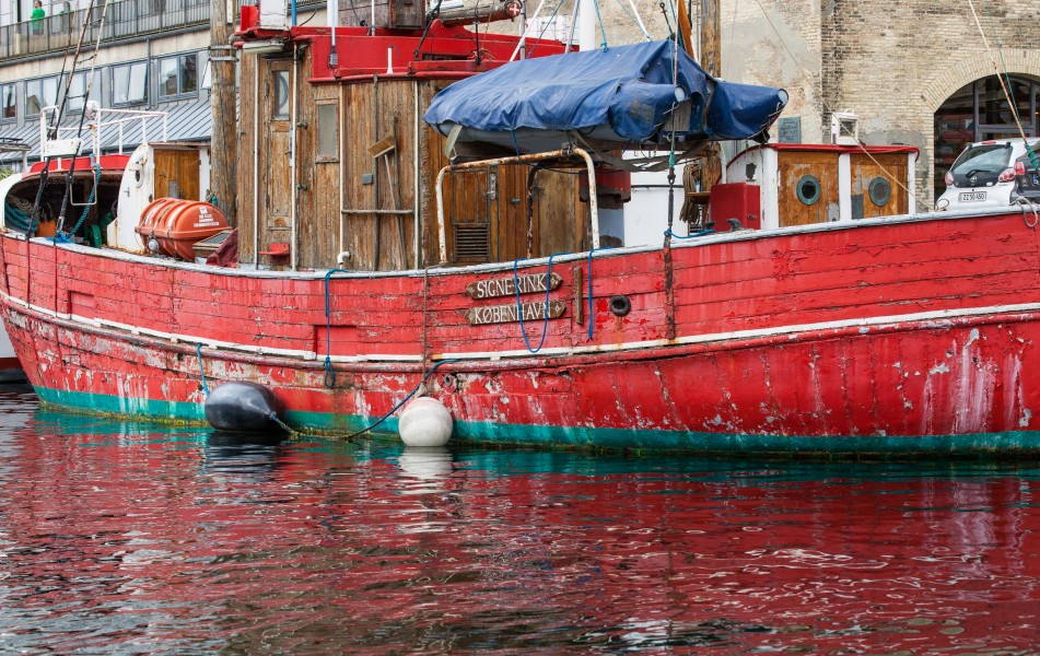 an old boat in Copenhagen, Denmark, June 2014, picture 76