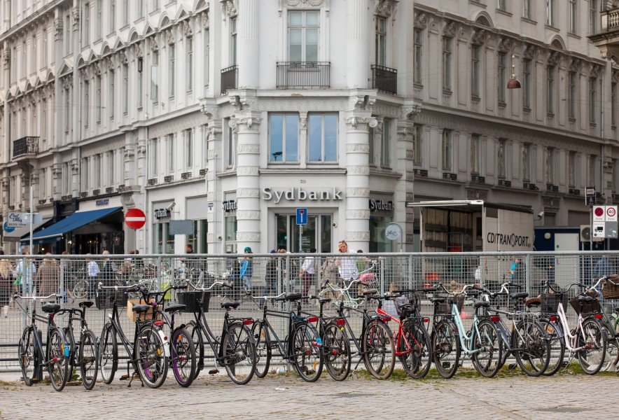 bicycles in Copenhagen, Denmark, June 2014, picture 90
