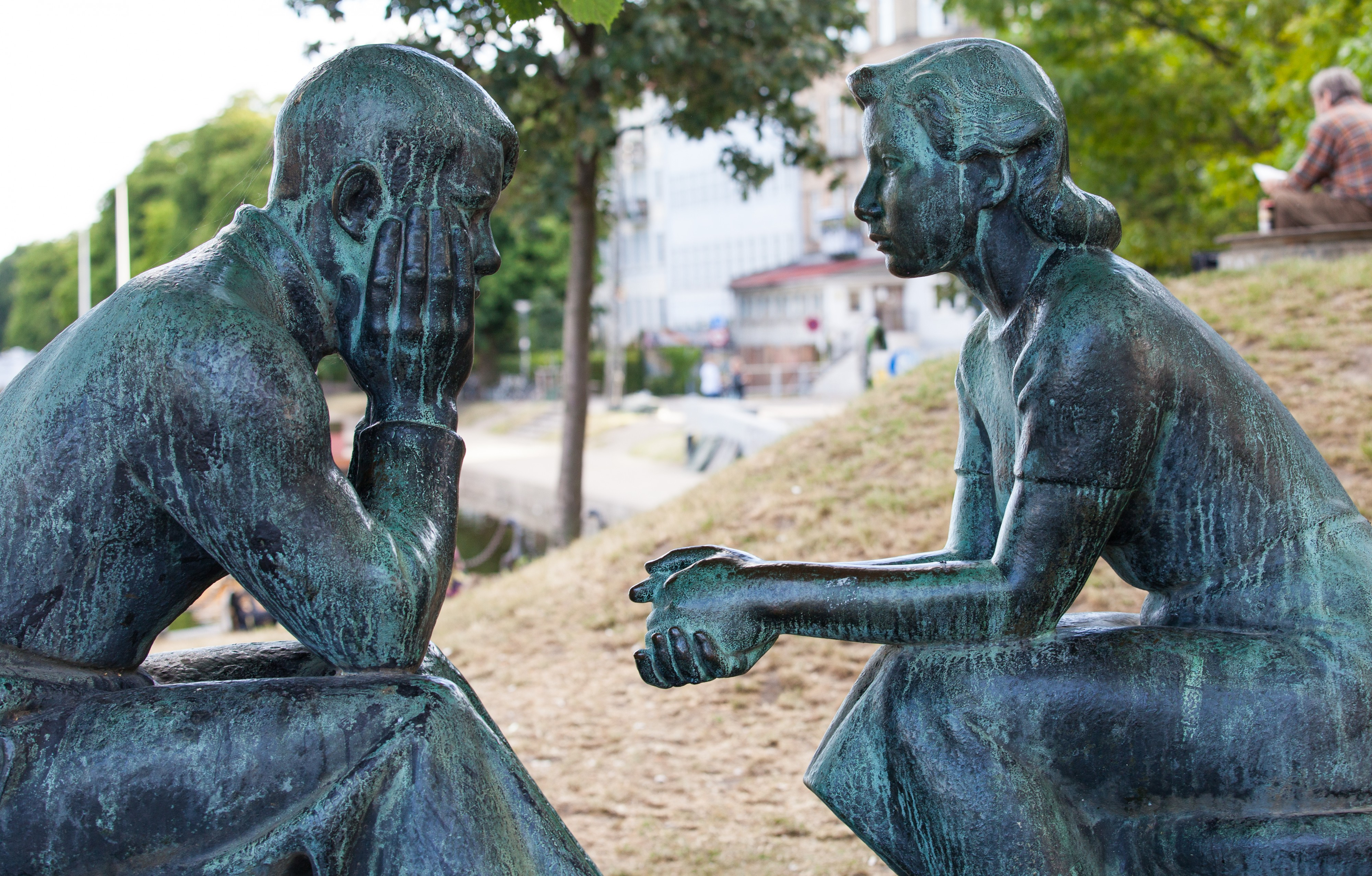 statues in Copenhagen, Denmark, June 2014, picture 56