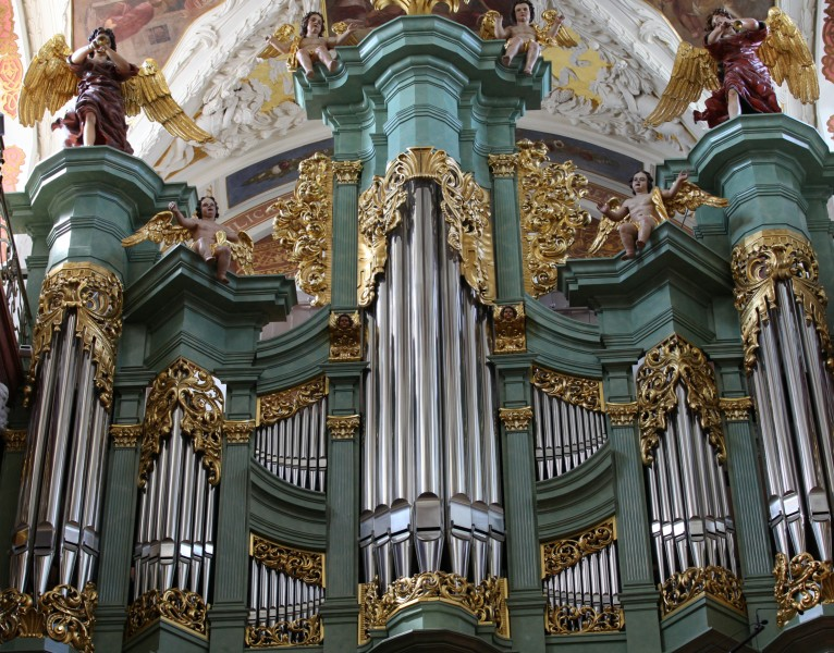 an organ in a church in Czestochowa city in August 2013, Poland, EU, picture 2/21
