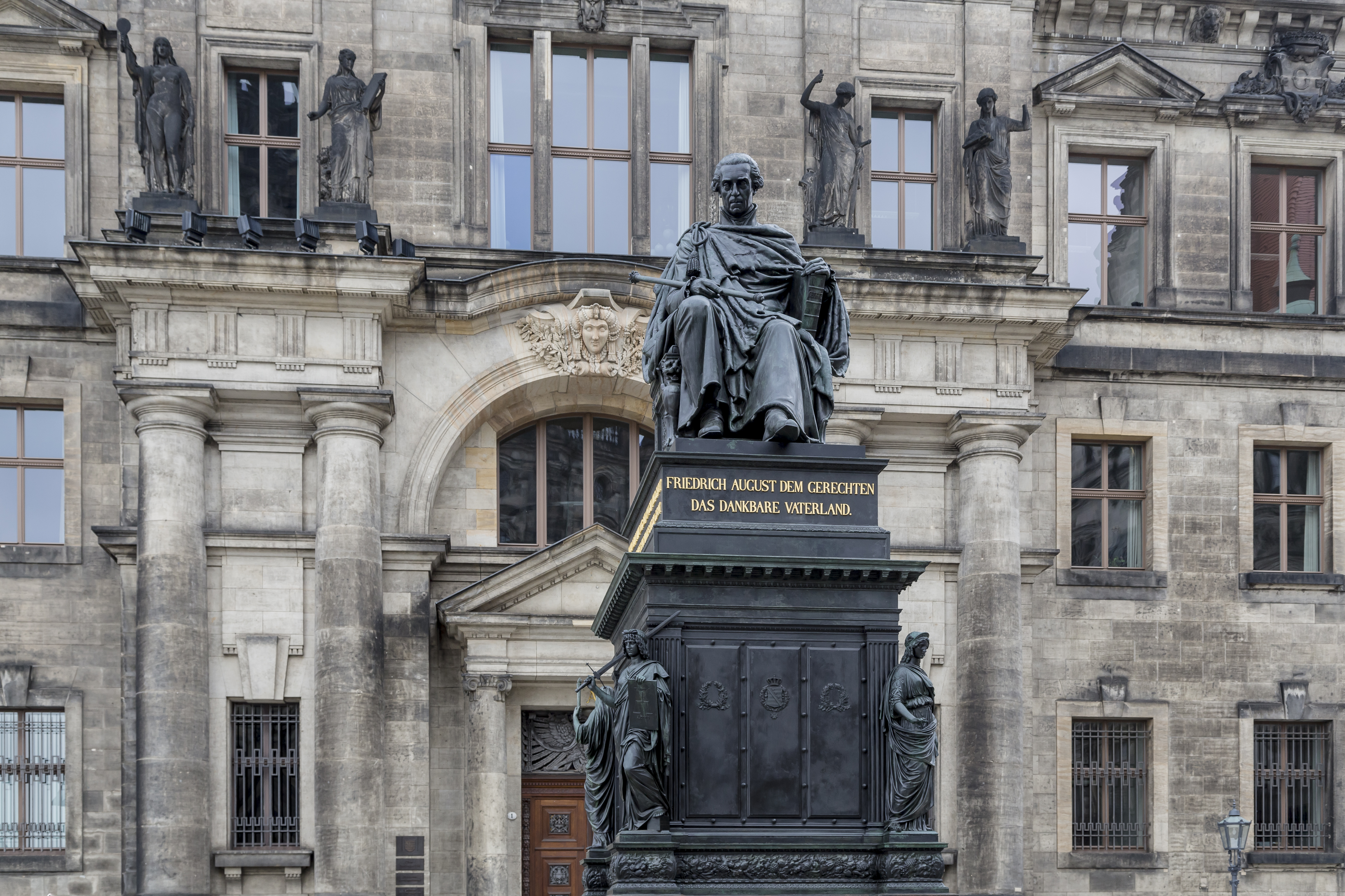 Dresden Germany Statue-Frederick-Augustus-I-of-Saxony-01
