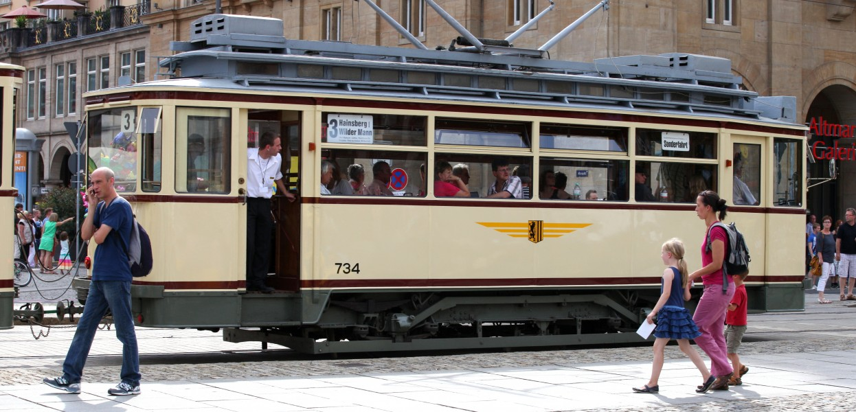 a tram in Dresden, Germany, Europe, August 2013, picture 53