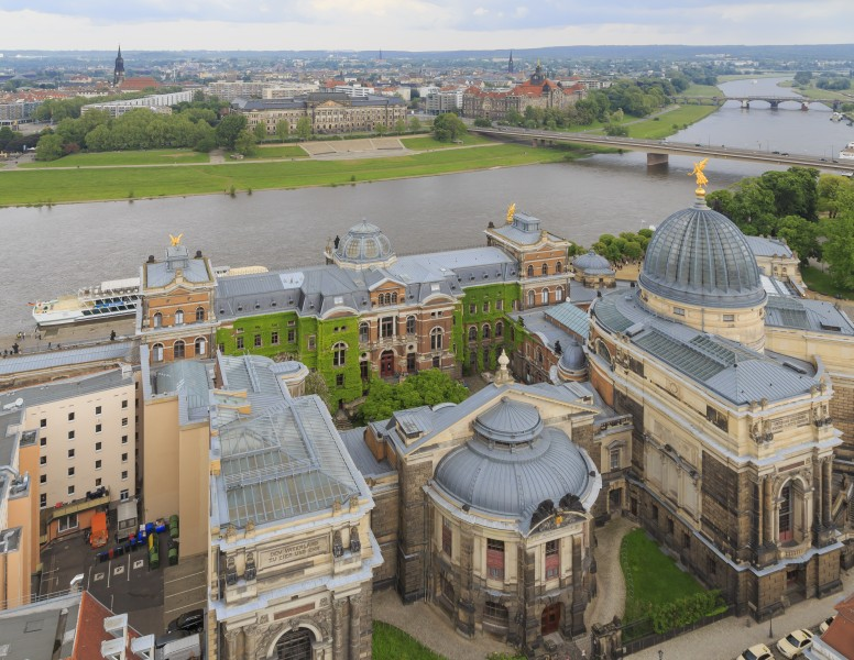 Dresden Germany City-views-from-tower-of-Frauenkirche-01