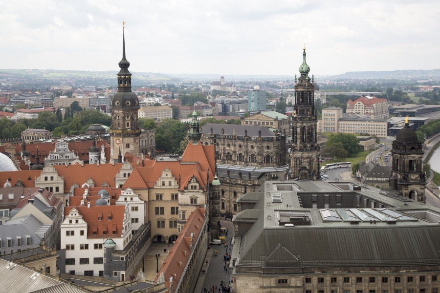 Dresden Germany City-views-from-tower-of-Frauenkirche-04