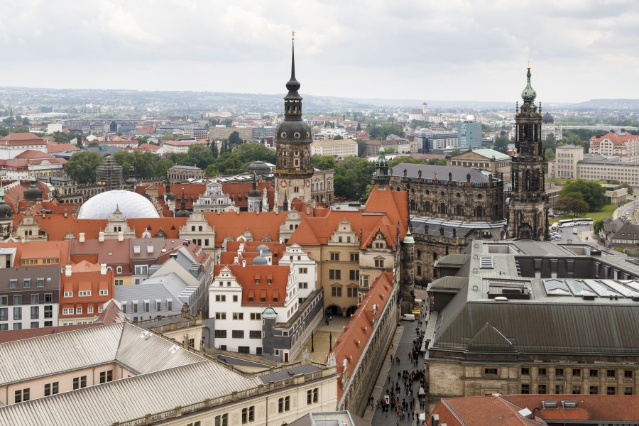 Dresden Germany City-views-from-tower-of-Frauenkirche-05