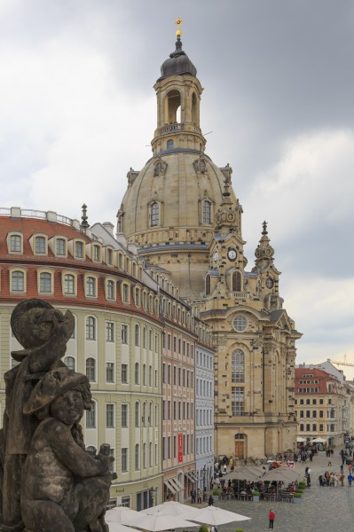 Dresden Germany Exterior-of-Frauenkirche-06a