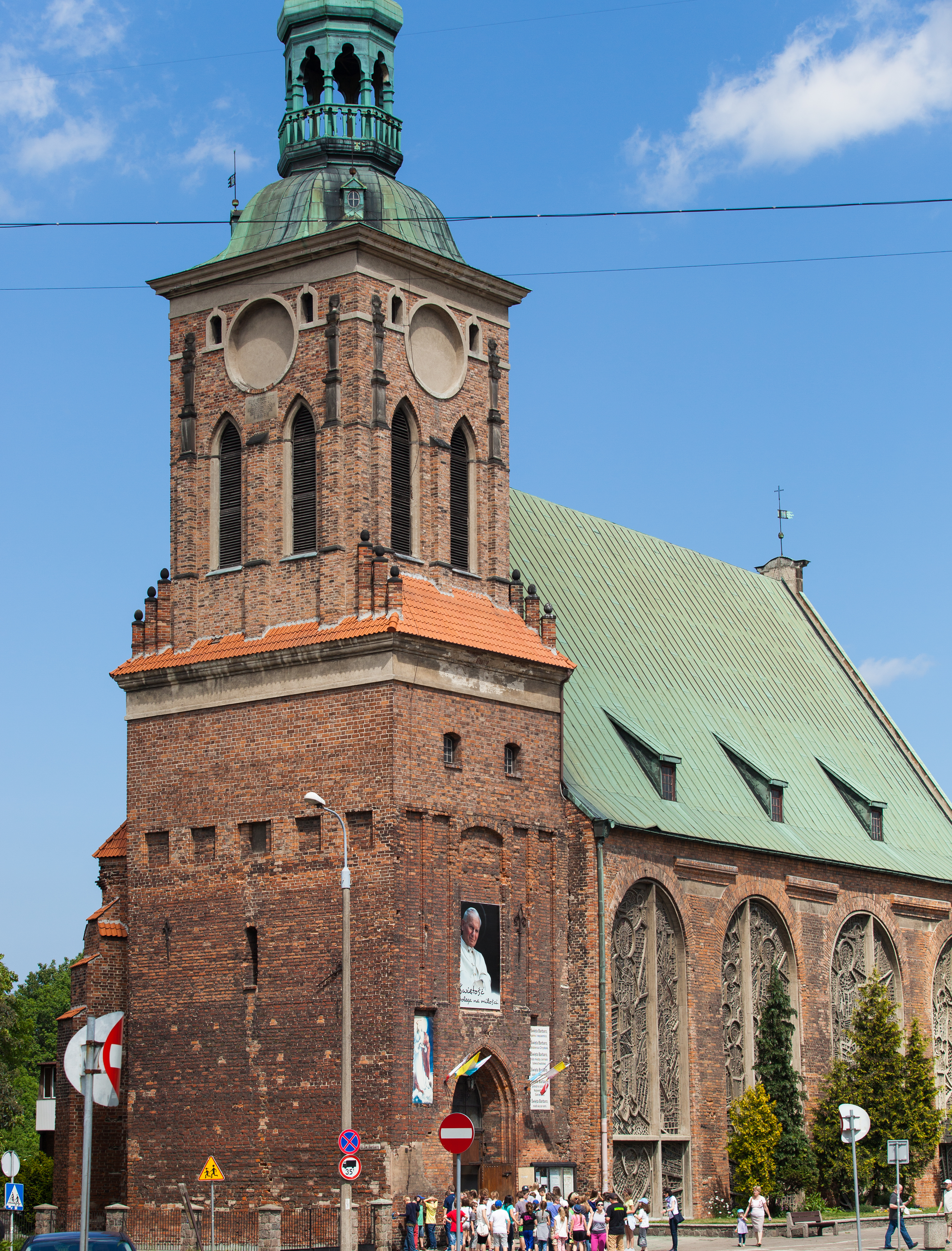 a church in Gdansk city, Poland, June 2014, picture 1