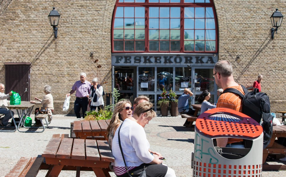 a famous fish market in Gothenburg, Sweden, June 2014, picture 4