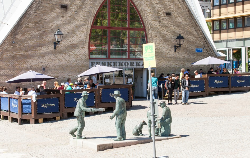 Feskekôrka (fish church) - a fish market in Gothenburg, Sweden, June 2014, picture 7