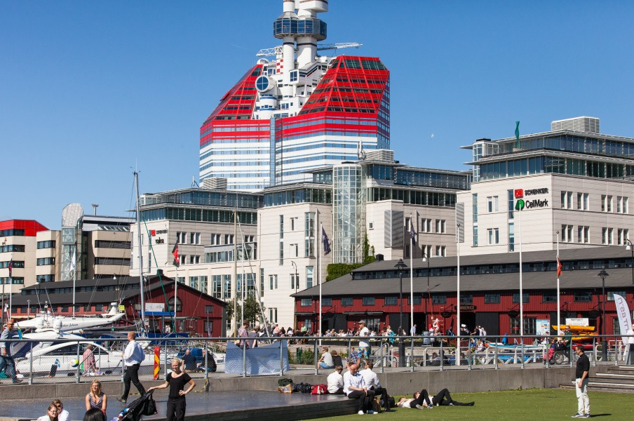 the lipstick building in Gothenburg, Sweden, June 2014, picture 20