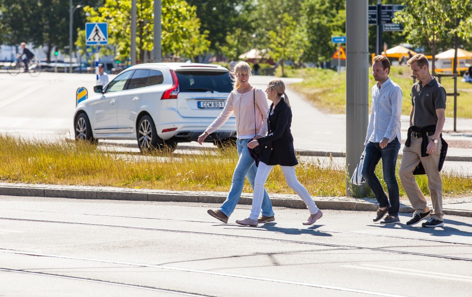 people walking in Gothenburg, Sweden, June 2014, picture 26
