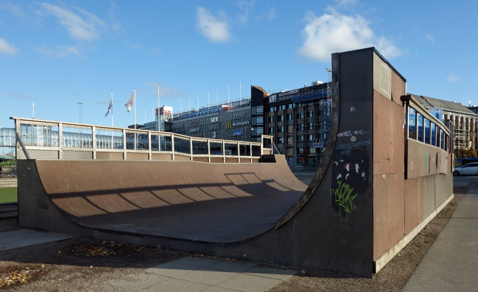 Skateboard ramp between Göteborg Opera and Nordstan