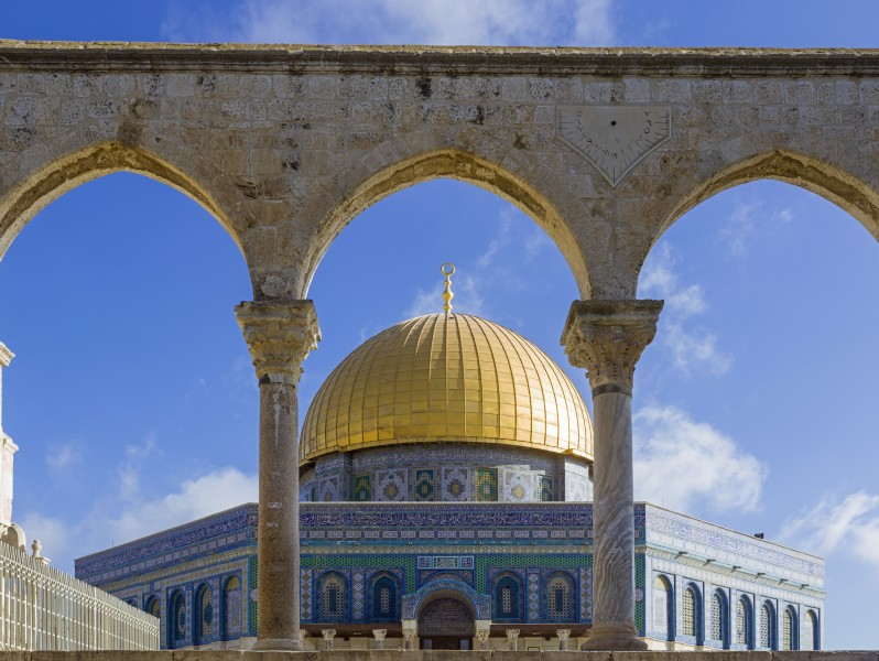 ISR-2015-Jerusalem-Temple Mount-Dome of the Rock and Al-Mawazin