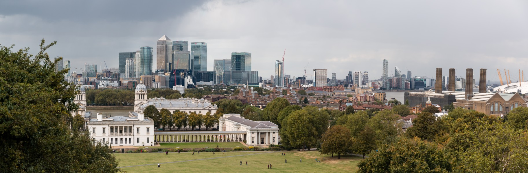 London, Greenwich, Blick vom Hügel des Royal Greenwich Observatory -- 2016 -- 4736-8