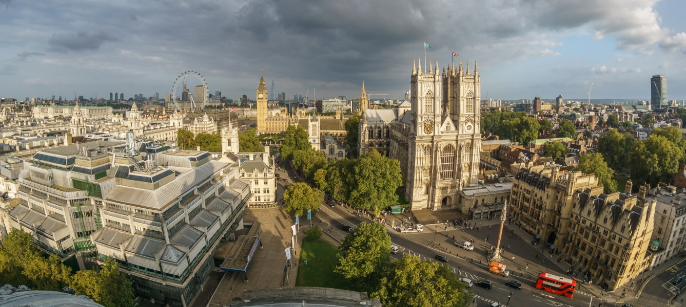 Westminster from the dome on Methodist Central Hall