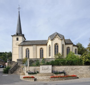 Luxembourg Hobscheid church