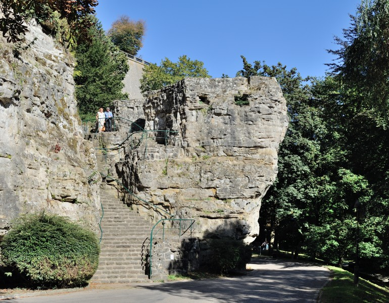Luxembourg City Petrusse valley rock