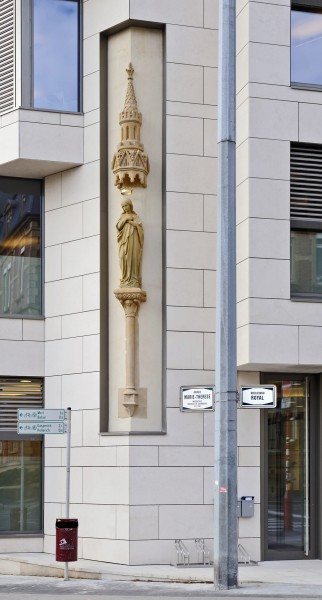 Luxembourg City Virgin Mary statue 2012