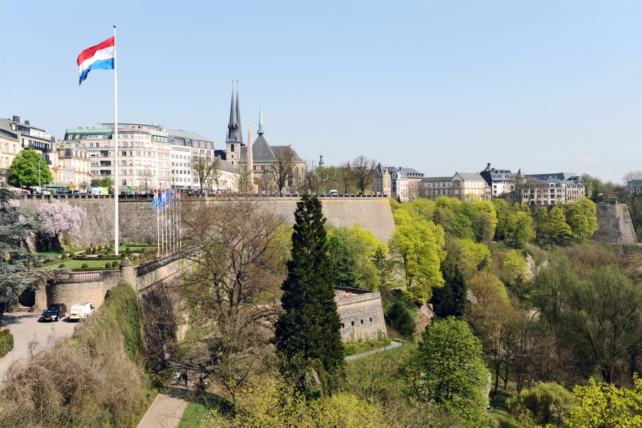 Luxembourg Fortress from Adolphe Bridge 02 c67