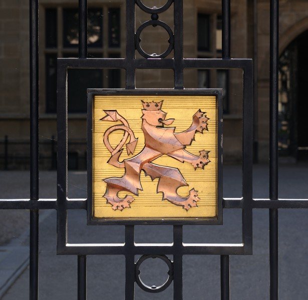 Luxembourg Grand Ducal Palace coat of arms Lion
