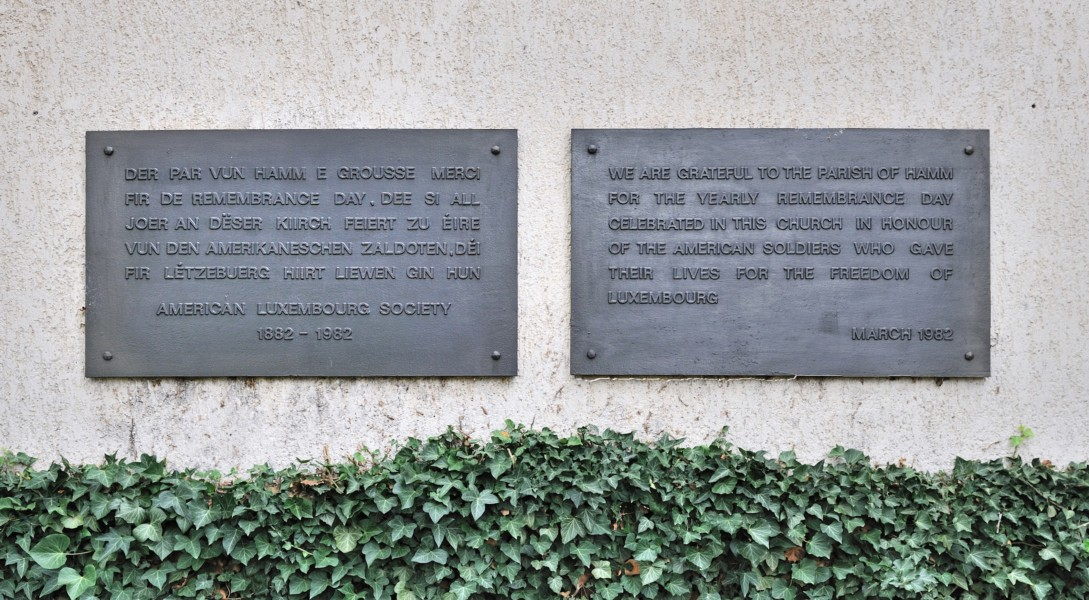 Luxembourg Hamm church plaques