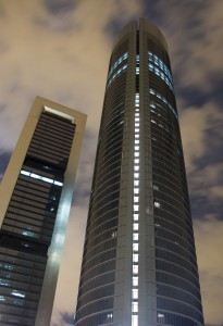 Torre Sacyr Vallehermoso & Torre Caja Madrid de noche - at night