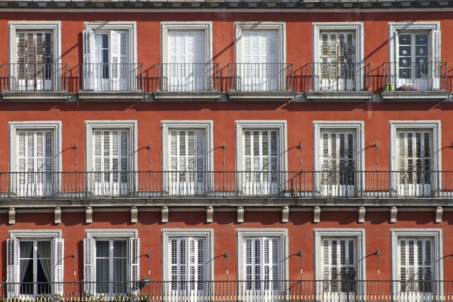 Windows at Plaza Mayor - Madrid (2)