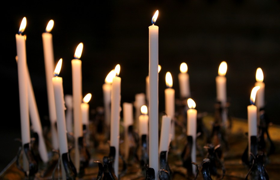 candles in a church in Milan, Italy, European Union, August 2013, picture 17