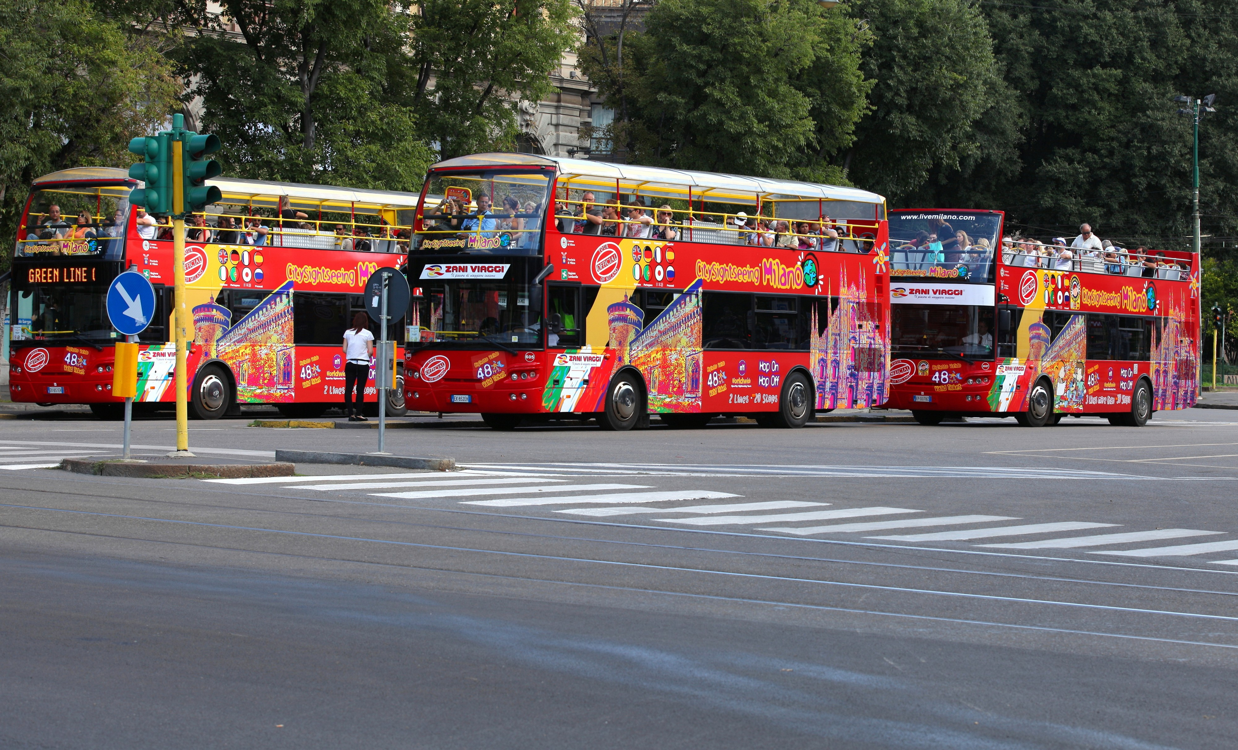 sightseeing buses in Milan, Italy, European Union, August 2013, picture 57