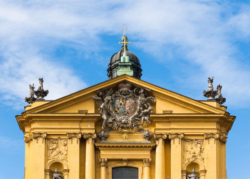 Detail façade Theatinerkirche Munich