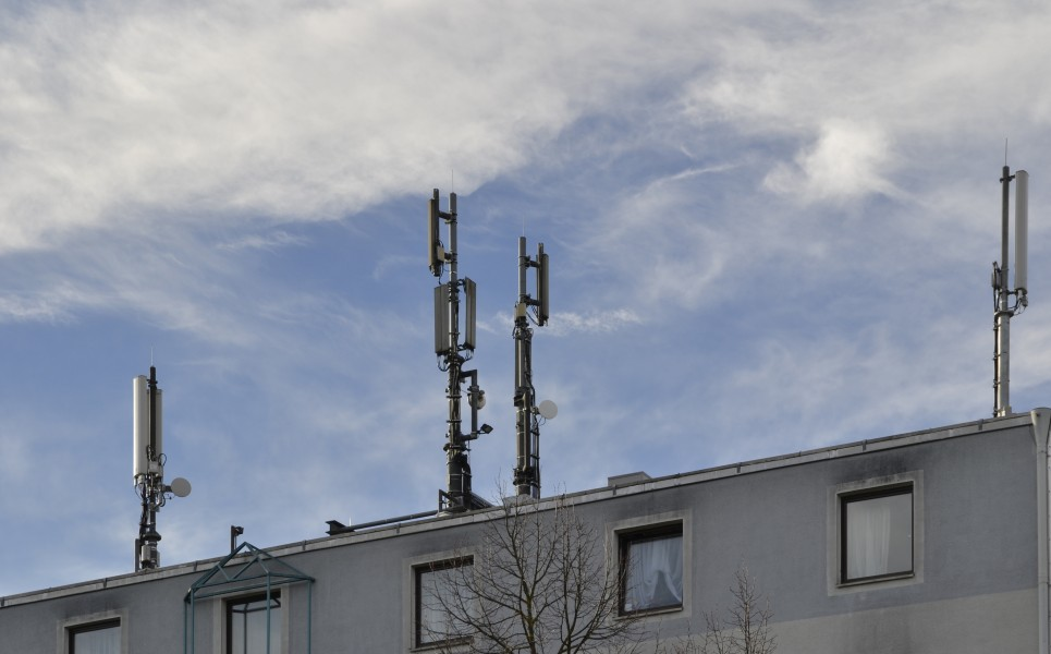 Mobile phone base station in Munich, 2014