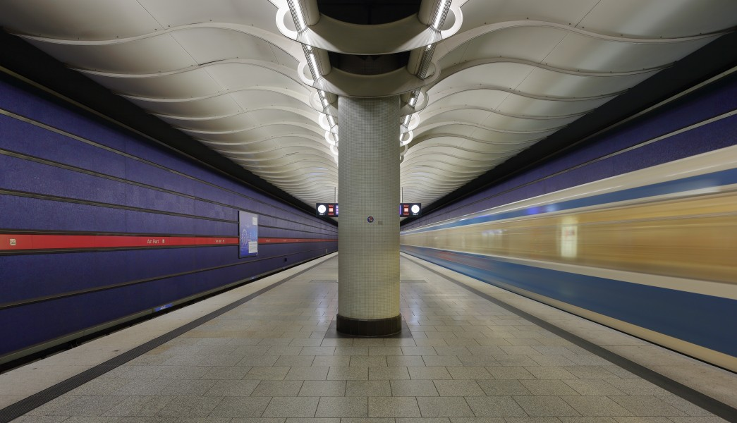 Munich subway station Am Hart