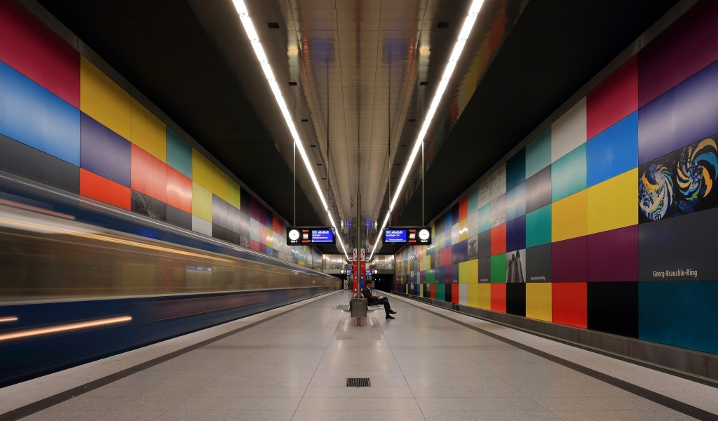 Munich subway station Georg-Brauchle-Ring