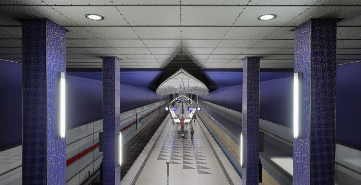 Munich subway station Hasenbergl 2